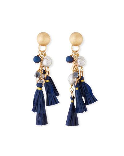 Tassel & Cluster Dangle Earrings