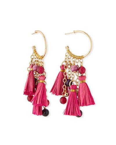 Tassel & Cluster Hoop Earrings