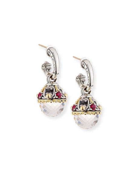Konstantino Pythia Corundum & Crystal Drop Earrings
