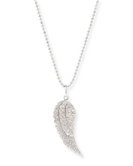 Sydney Evan 14k Small Angel Wing Pendant Necklace