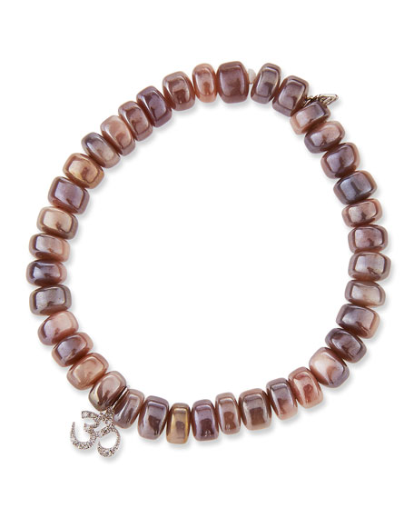 Image 1 of 2: Sydney Evan Mauve Moonstone & Diamond OM Bracelet