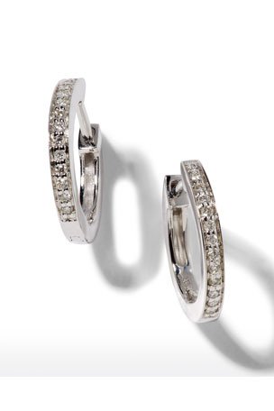 Sydney Evan 14k White Gold Diamond Huggie Hoop Earrings