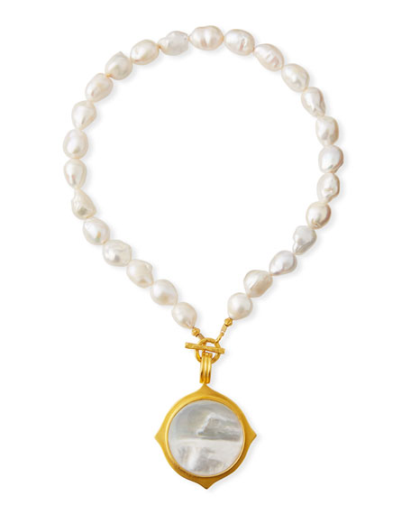 Dina Mackney Baroque Pearl Pendant Necklace
