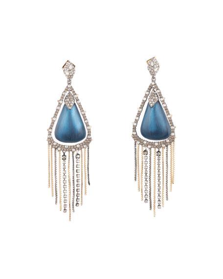 Alexis Bittar Crystal Encrusted Tassel Drop Earrings