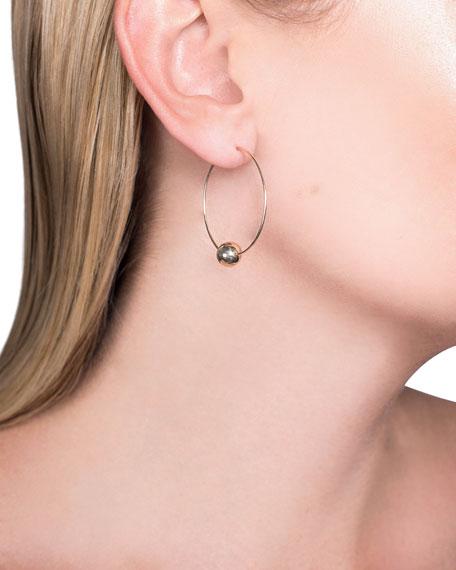 LANA 14k Gold Bead-Base Hoop Earrings