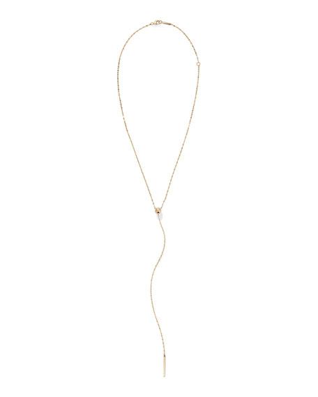 LANA 14k Gold Bead Y-Drop Lariat Necklace