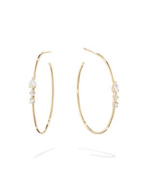 02f4dec4c Lana Magic 14k Gold Diamond Cluster Hoop Earrings