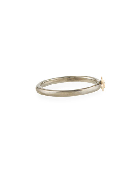 Armenta New World Single Diamond Crivelli Ring, Two-Tone