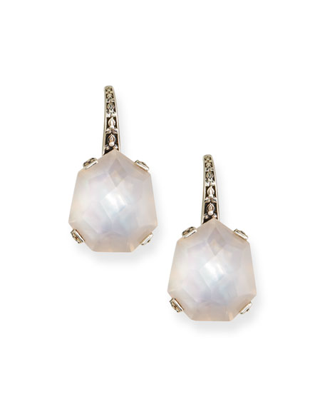 Stephen Dweck Freeform Rose Quartz/Mother-of-Pearl Earrings
