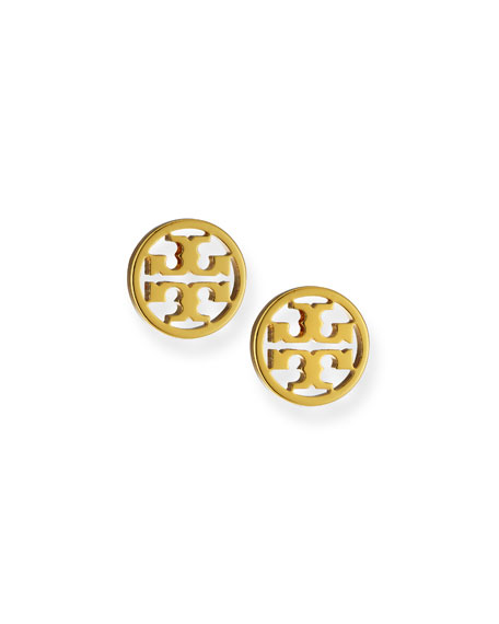 Image 1 of 2: Tory Burch Logo Circle Stud Earrings