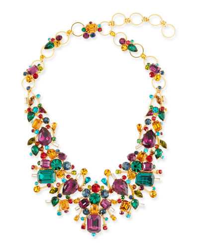 Large Multicolor Stone Necklace