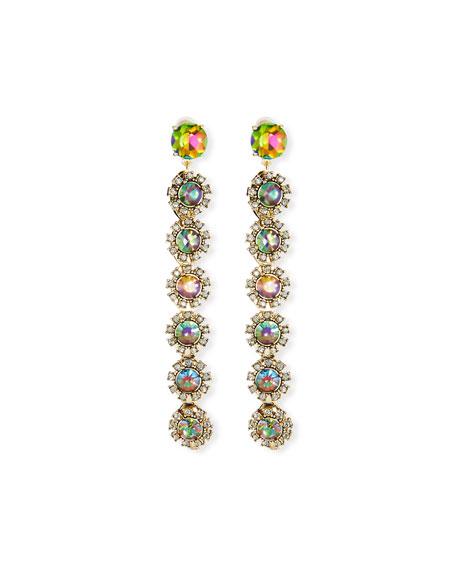 Lulu Frost Beam Crystal Drop Earrings