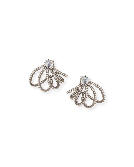 Alexis Bittar Crystal Lace Orbit Stud Earrings