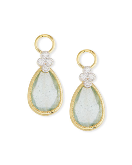 Jude Frances 18k Gold Provence Pear Doublet Earring Charms