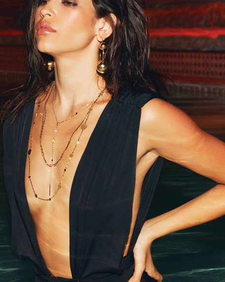 "LANA 14k Gold Nude Petite Long Necklace, 24""L"