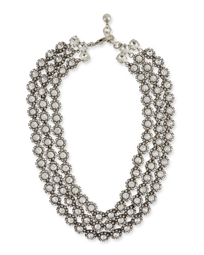Beam Triple-Strand Crystal Necklace