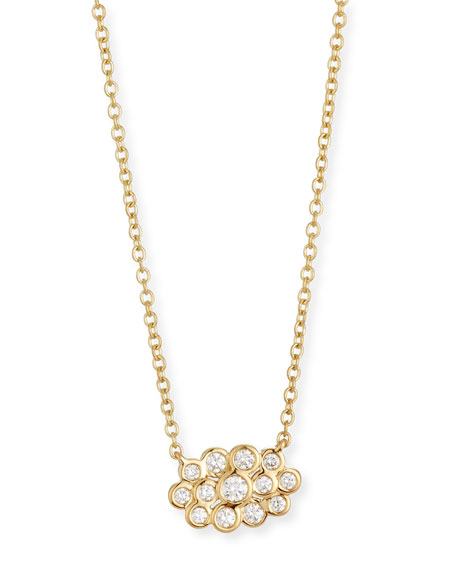 Ippolita Starlet 18k Gold Diamond Mini Cloud Pendant Necklace