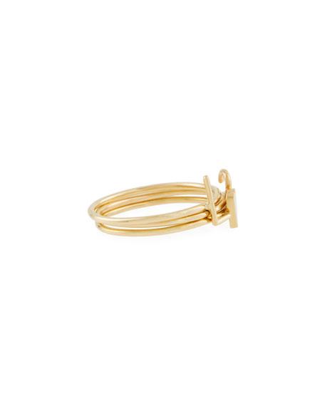 Sarah Chloe Mini Amelia Initial Stacking Ring