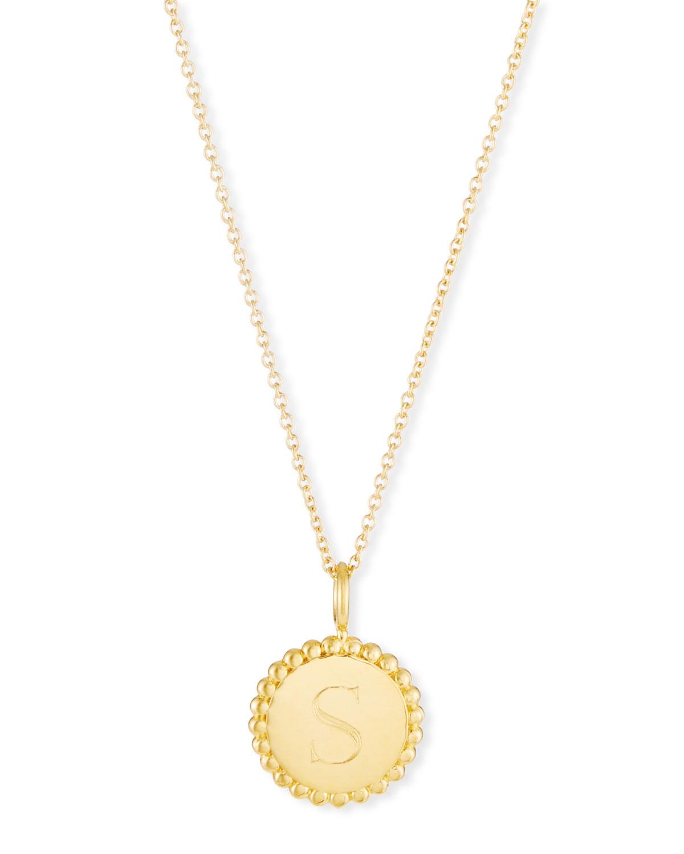 b343ea32081325 Sarah Chloe Madi Small Engraved Initial Pendant Necklace   Neiman Marcus