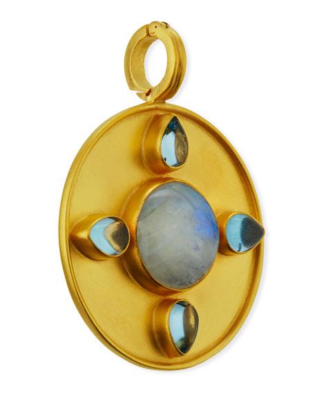 Dina Mackney Moonstone & Blue Topaz Pendant