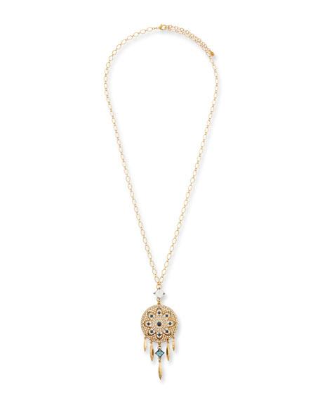 Sequin Dream Catcher Pendant Necklace