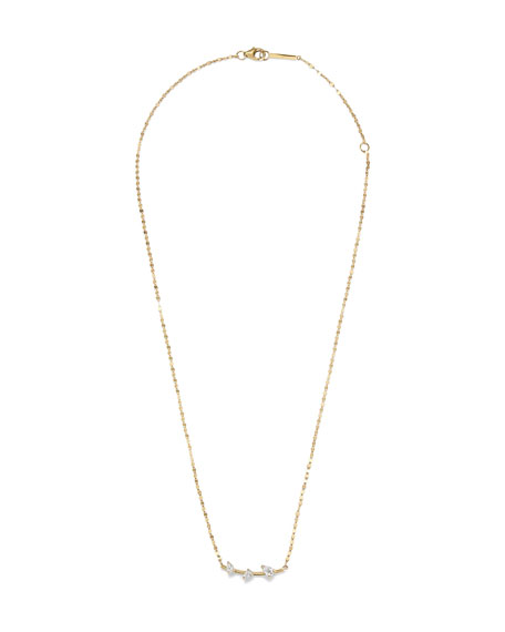 Image 1 of 2: Lana 14k Gold & Diamond Cluster Necklace
