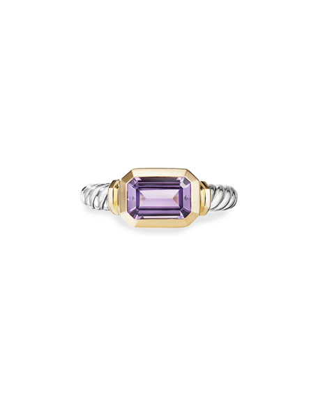 David Yurman Novella Stone Ring w/ 18k Gold, Size 9