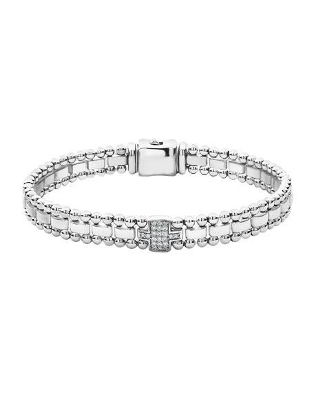LAGOS Caviar Spark Diamond-Link Bracelet