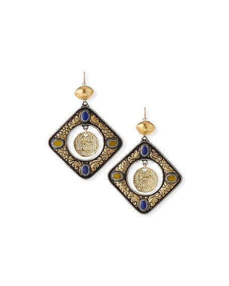 Devon Leigh Oversized Coin Dangle Earrings