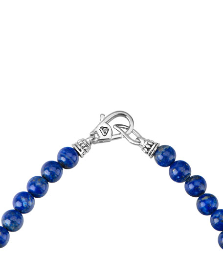Image 3 of 4: Lagos Caviar Icon Long Necklace, Lapis