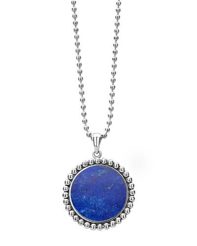 Maya 24mm Inlay Pendant Necklace  Lapis