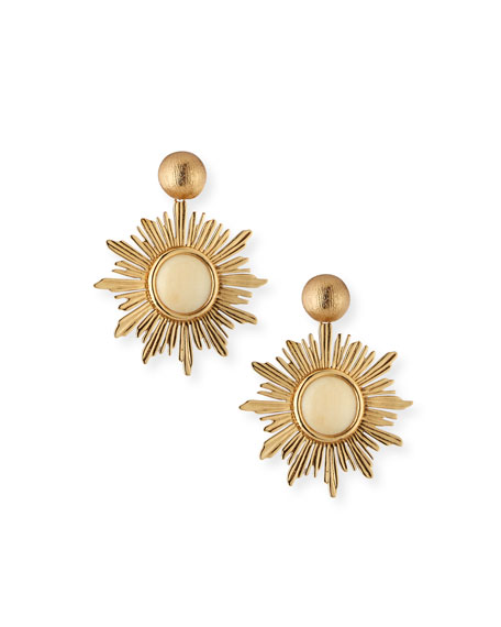 Akola Sunburst Drop Earrings