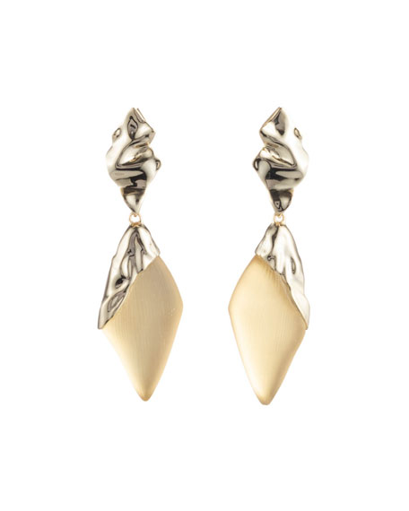 Alexis Bittar Crumpled Cap-Drop Earrings
