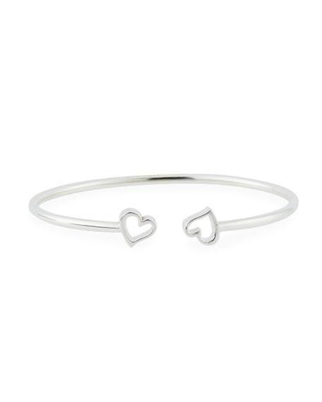Alex and Ani Heart Kick Cuff Bracelet, Silver