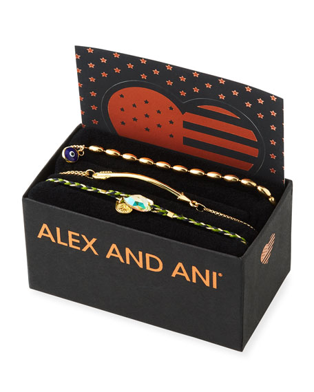 Alex and Ani Arrow Pull-Chain Bracelet Gift Set, Gold