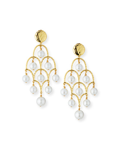 Mother-of-Pearl Chandelier Earrings