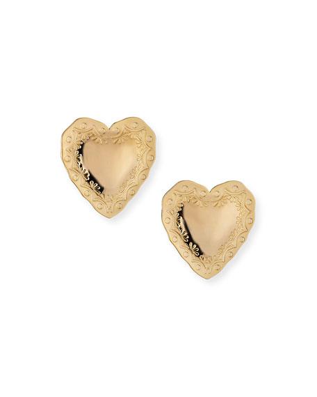Fallon Heart Statement Earrings