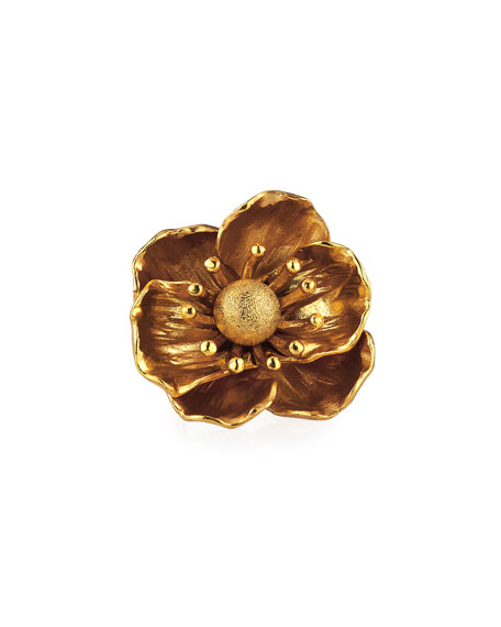 Oscar de la Renta Poppy Flower Ring