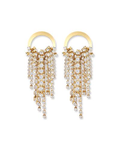 Rowan Crystal Dangle Earrings  Clear