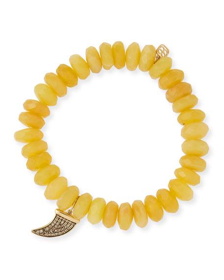 Sydney Evan 14k Medium Diamond Horn & Opal Bracelet