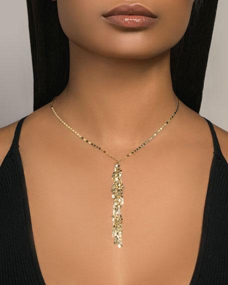 LANA 14k Gold Mini Fringe Lariat Necklace
