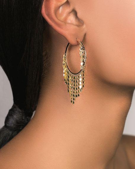 LANA 14k Gold Fringe Hoop Earrings