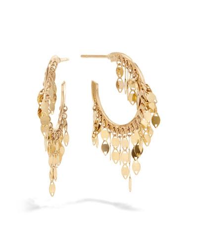 14k Gold Fringe Mini Hoop Earrings