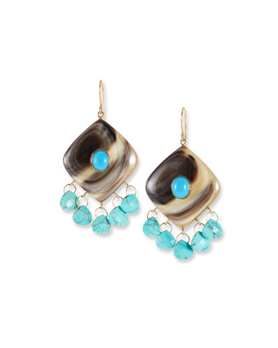 Kingo Drop Earrings w/ Turquoise
