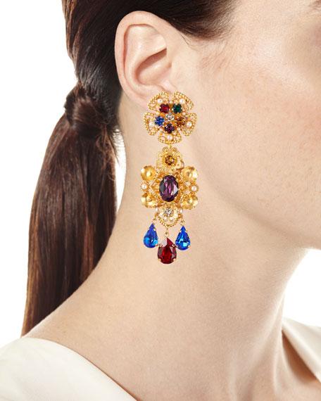 Dolce & Gabbana Crystal Pear-Dangle Earrings