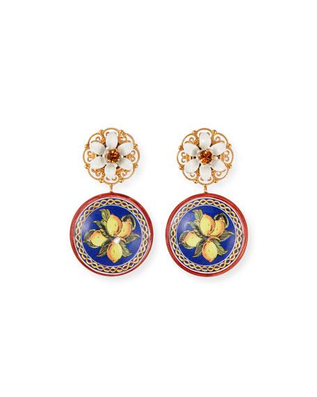 Dolce & Gabbana Carretto Lemon-Drop Earrings