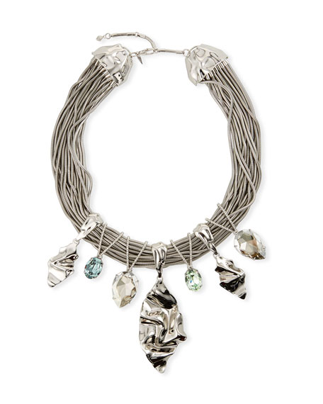 Alexis Bittar Oversized Crystal Bib Necklace