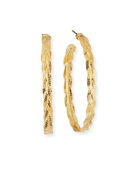 Image 1 of 2: Creole Hoop Earrings