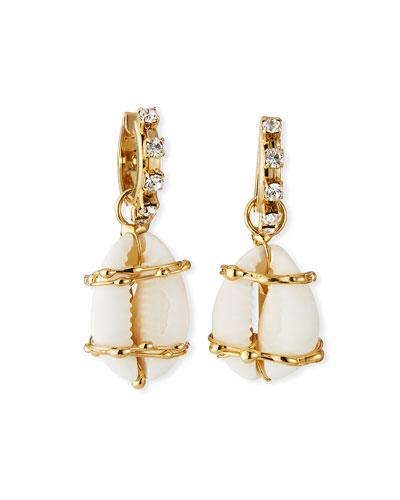 Beatrix Crystal & Shell Drop Earrings