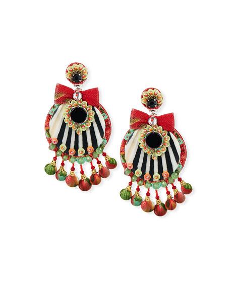 Ranjana Khan MOSELLE RESIN CLIP-ON EARRINGS